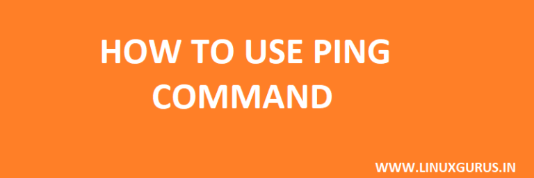 ping command and usages